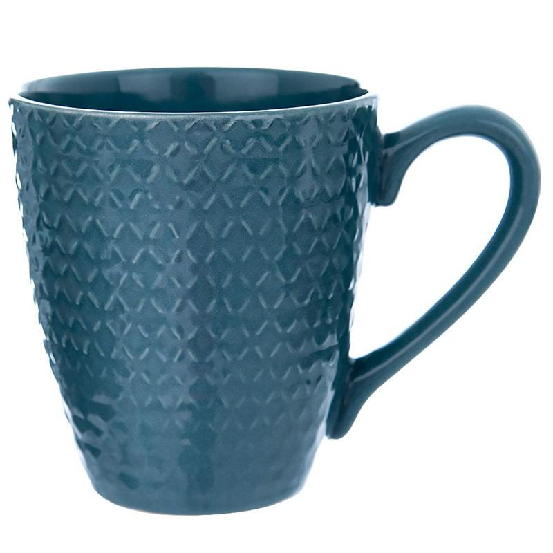 ORION Ceramic mug with handle for coffee tea 430 ml BLUE