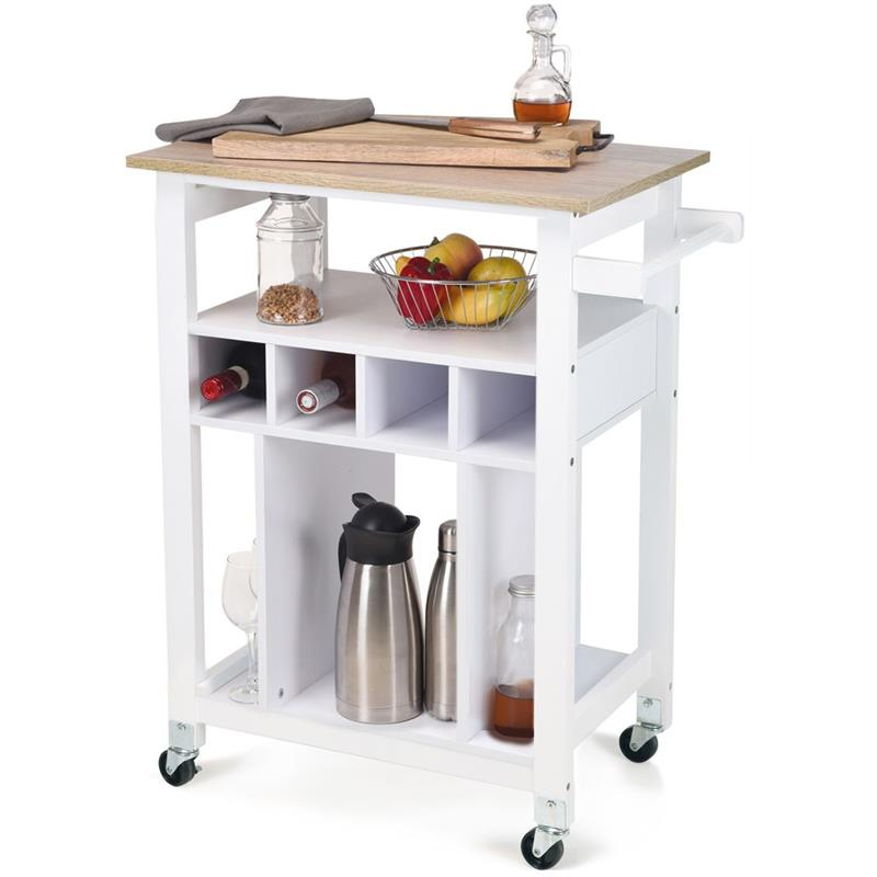 ORION Kitchen cart CUPBOARD kitchen island chest of drawers on wheels stand rack for wine