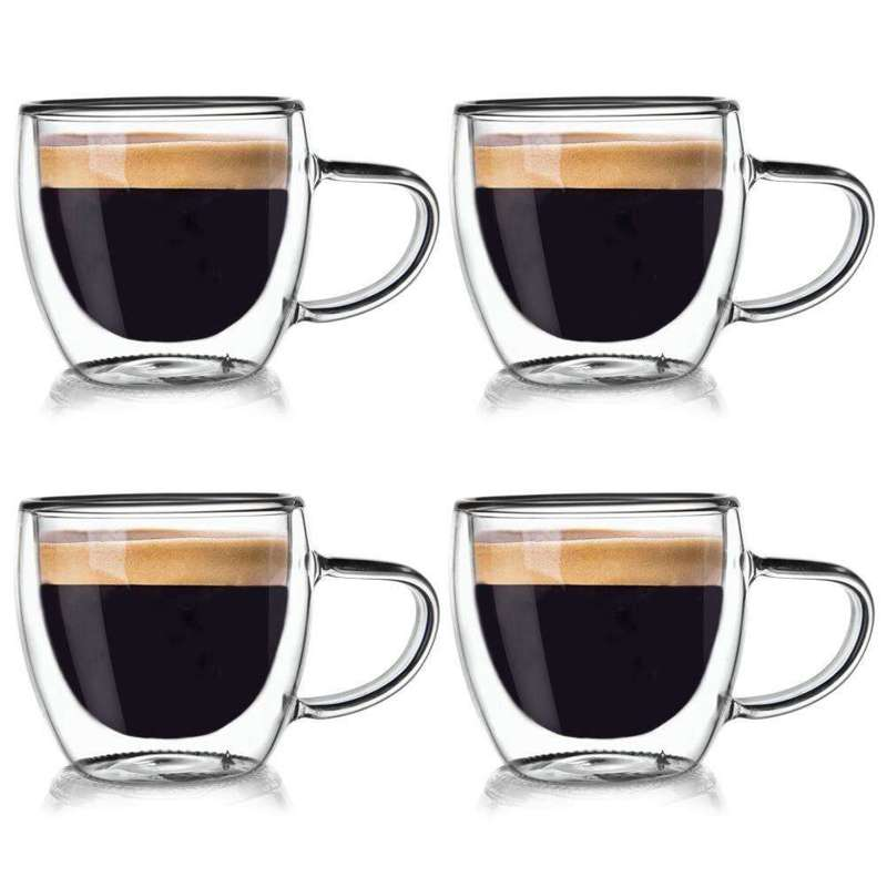 ORION 4x Thermal glass with double wall for COFFEE 0,11