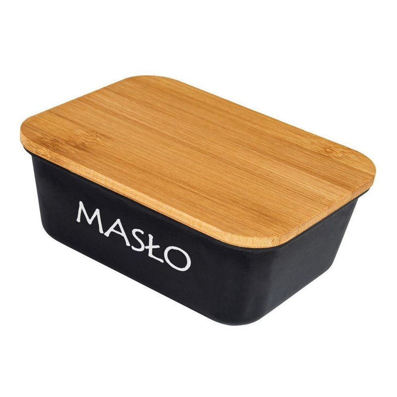 ORION Butter dish BLACK container for butter