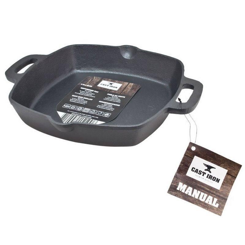 ORION Cast-iron pan cast-iron plate 25x25 cm induction