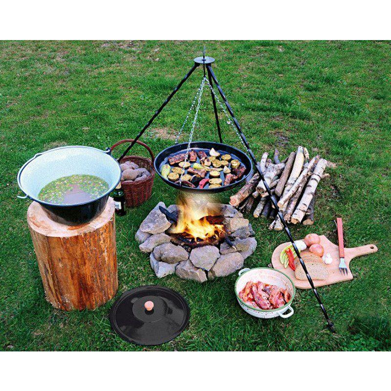 ORION Cast-iron tripod / cauldron stand hanging grill