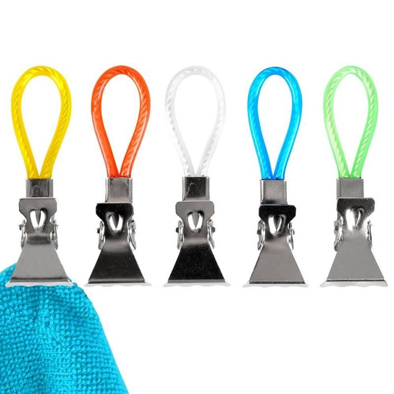 ORION Clips for towels cloths hooks hanger 5 pcs.