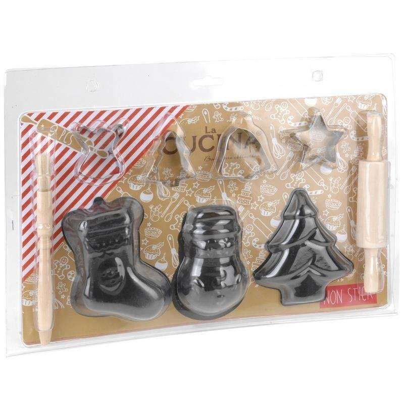 ORION Cookie Form / Cutter for Baking CHRISTMASS Theme 9 pcs.