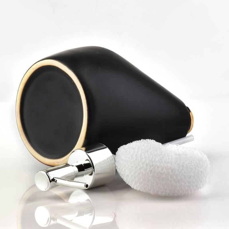 ORION Dispenser for soap gel washing-up liquid black