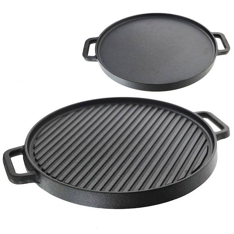 ORION Double-sided cast-iron pan grilled grill flat 30 cm