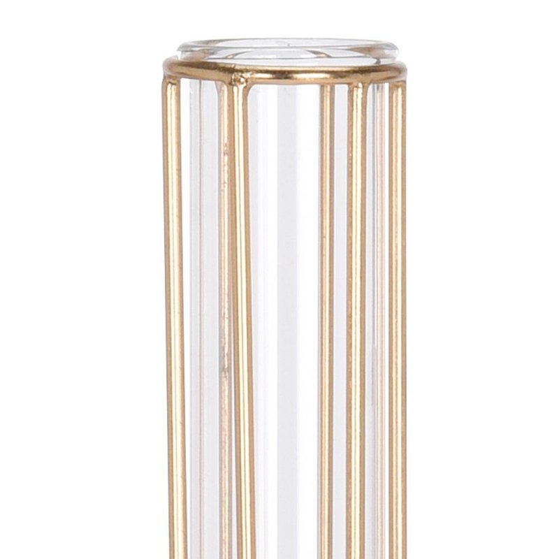 ORION GOLD vase flacon glass in stand for flowers decorations 38 cm