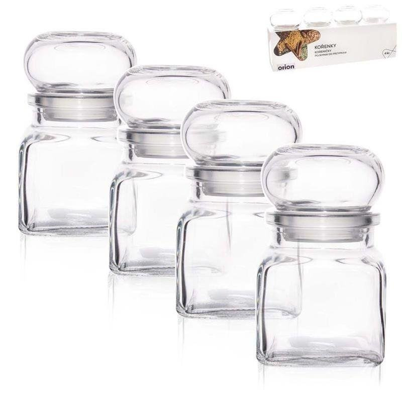 ORION Glass container for spices 120 ml 4 pcs