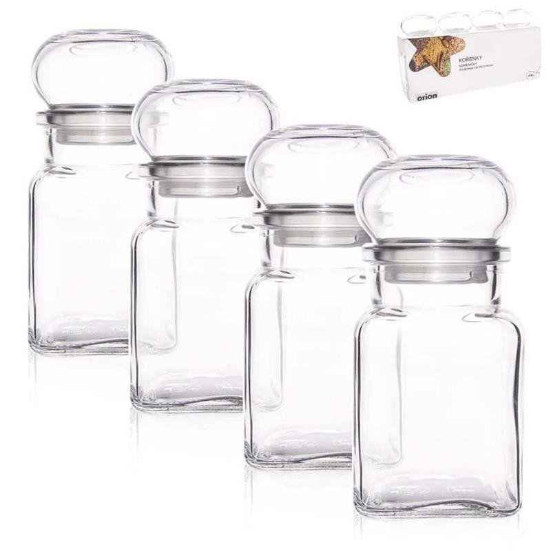 ORION Glass container for spices 150 ml 4 pcs