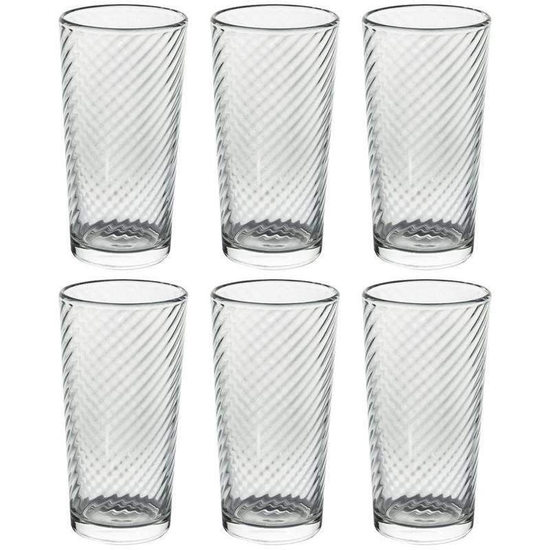 ORION Glass for water drinks juice lemonade drinks coffee 250ml 6 pieces