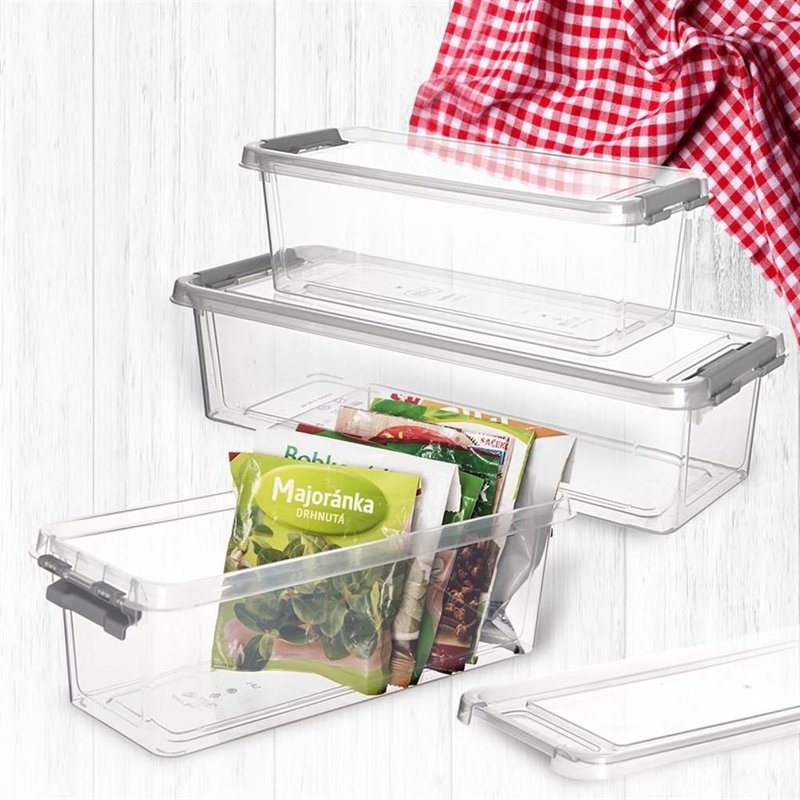 ORION Kitchen container OBLONG for food with lid 1,8L