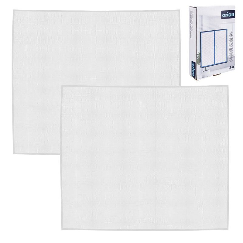 ORION Mosquito net on window insects mosquitoes 2x white