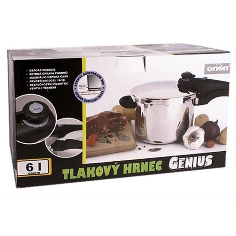 ORION Pressure cooker, induction, premium GENIUS 6L
