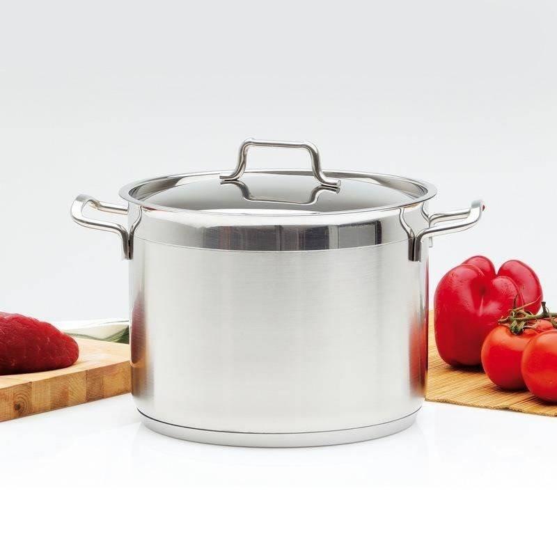ORION Steel pot with lid 18/10 PREMIUM 6,5L
