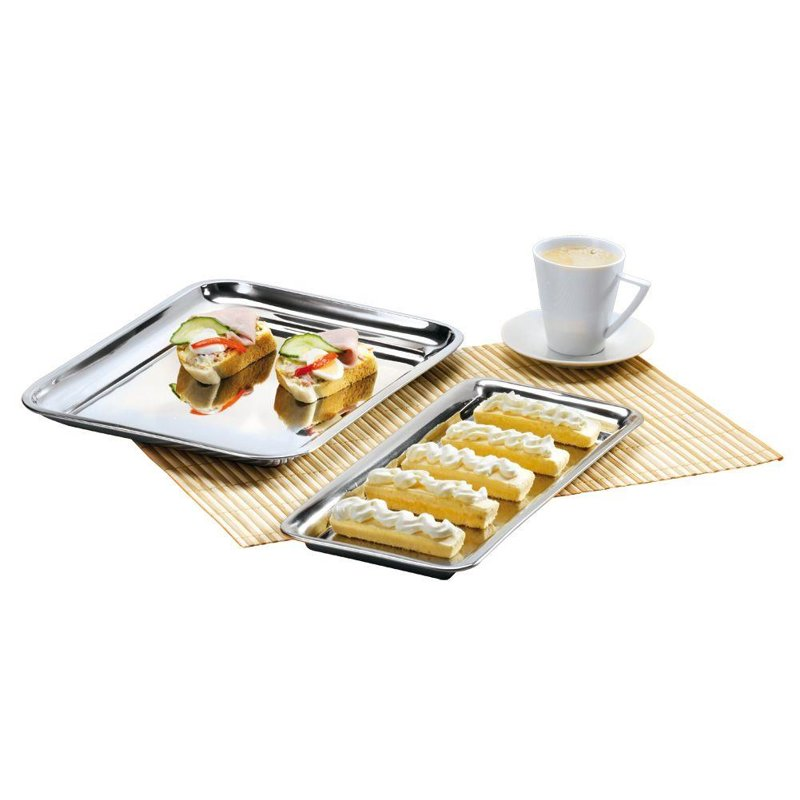 ORION Tray for serving steel / plate 21x16 cm