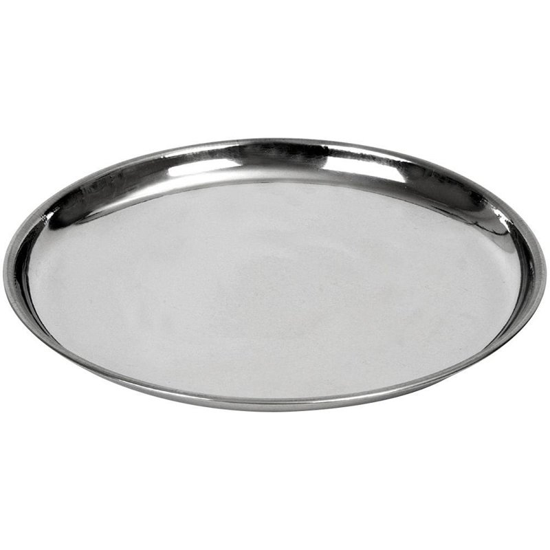ORION Tray for serving steel round plate 28 cm