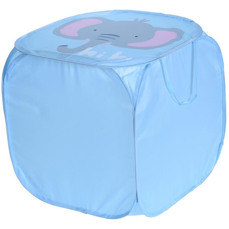 ORION Aufbewahrungsbox Spielzeugbox Spielzeugkiste FALTBAR mit Deckel ELEFANT für Kinderzimmer