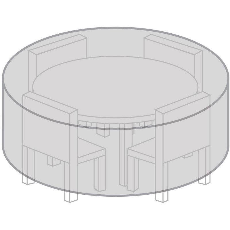 Schutzhülle Abdeckhaube Abdeckplane für einen Gartentisch rund 170 cm WASSERDICHT
