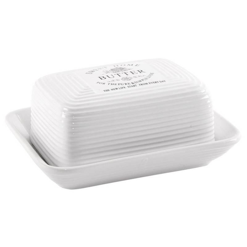 Butterdose Butter-Behälter aus Keramik SWEET HOME