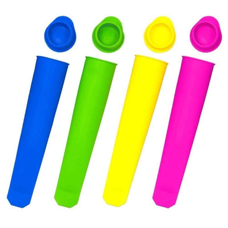 Förmchen Form für Wassereis 4 St. Silikon-Eis-Pop Eisformen aus Silikon