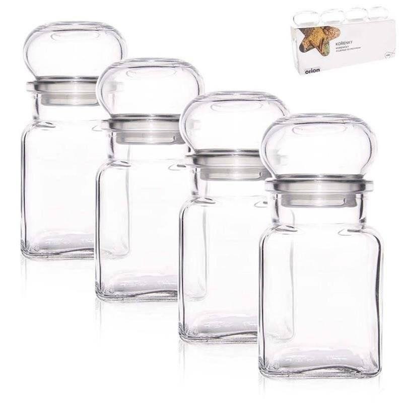 Gewürzbehälter Gewürzglas zur Aufbewahrung von Gewürzen 150 ml 4 Stück