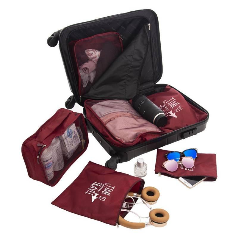 Kofferorganizer 6-teilig Packtaschen für Reisegepäck Kleidertaschen