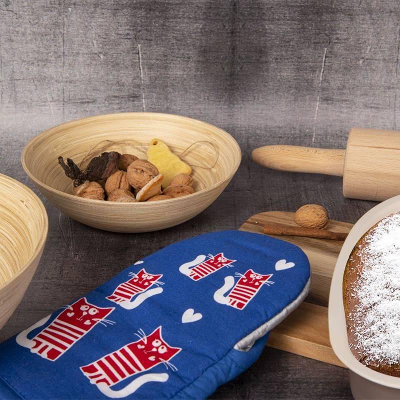 Küchenhandschuh Ofenhandschuh Topfhandschuh TEFLON + MAGNET mit Katzenmotiv