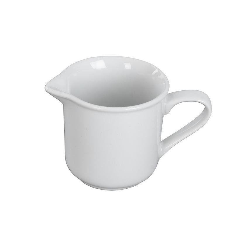 Milchkännchen kleine Milchkanne aus Porzellan mit Ausgießer 0,1l