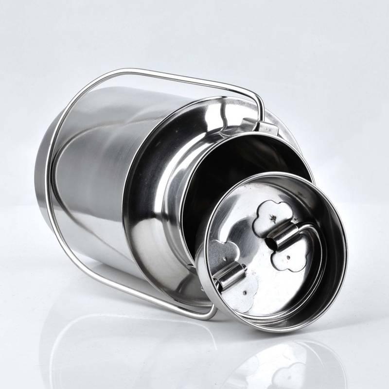 Milchkanne Edelstahl mit Steckdeckel und Tragebügel 3,2L Transportkanne