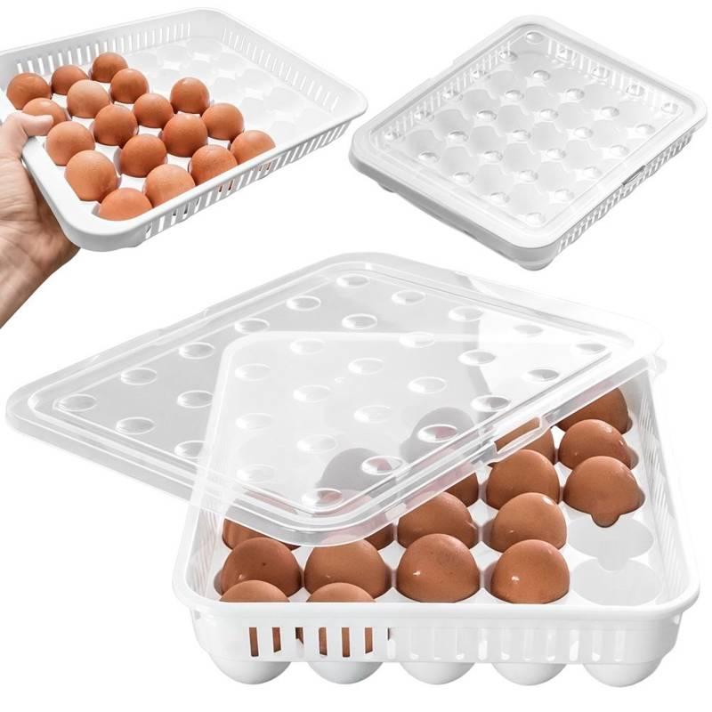 ORION Eierbehälter / Eierbox für Kühlschrank / Transportbox für 30 Eier