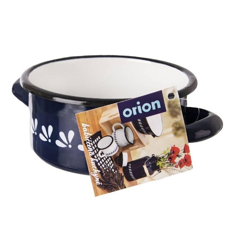 ORION Emaille-Topf / Kochtopf emailliert 12 cm 0,6l BLAU