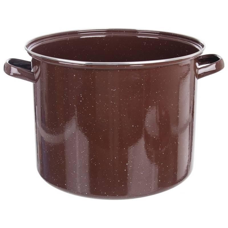 ORION Emaille-Topf / emaillierter Kochtopf für Gastronomielokale groß 32 cm 20l