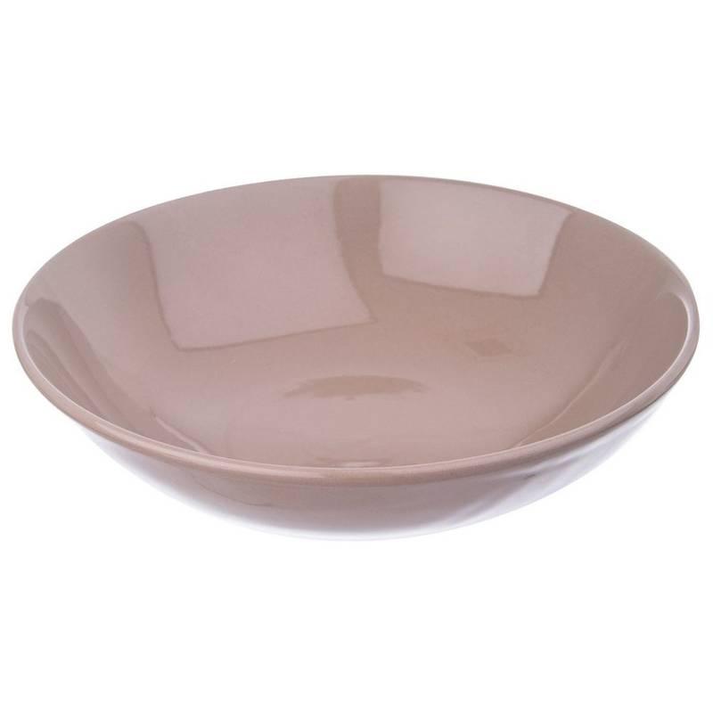 ORION Essteller Suppenteller Tiefteller aus KERAMIK 20,5 cm 0,85l in BRAUN
