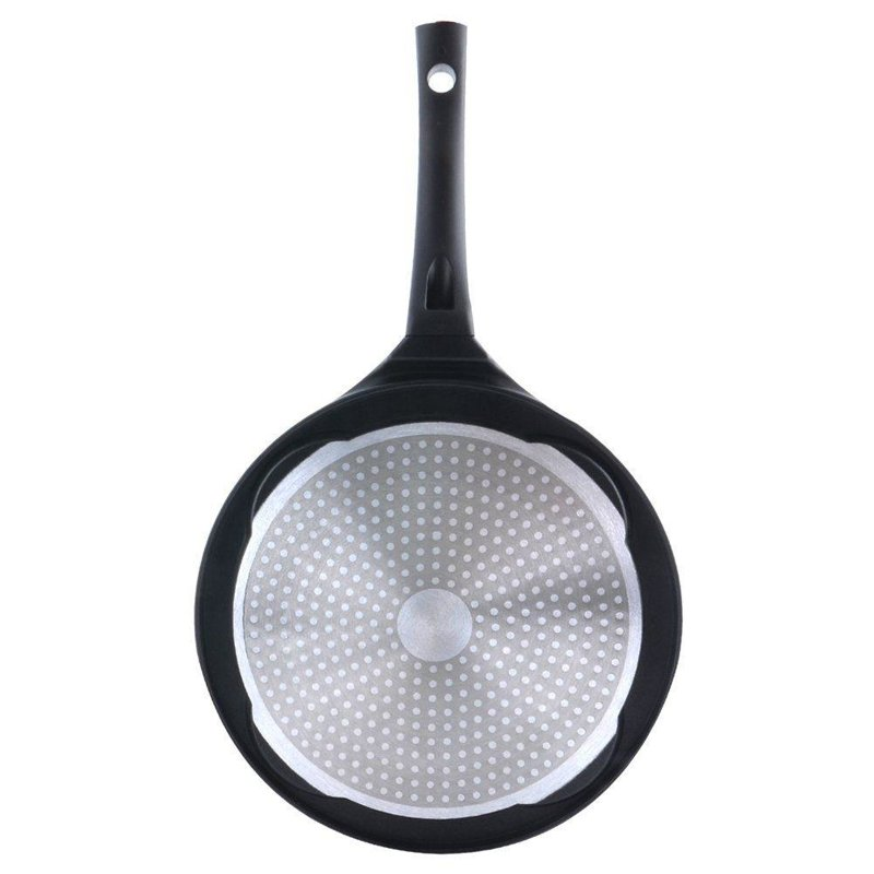 ORION GROUP Augenpfanne Spiegelei-Pfanne für 4 Eier Crepepfanne für Gas Induktion Antihaftbeschichtete Ø 27 cm GRANDE