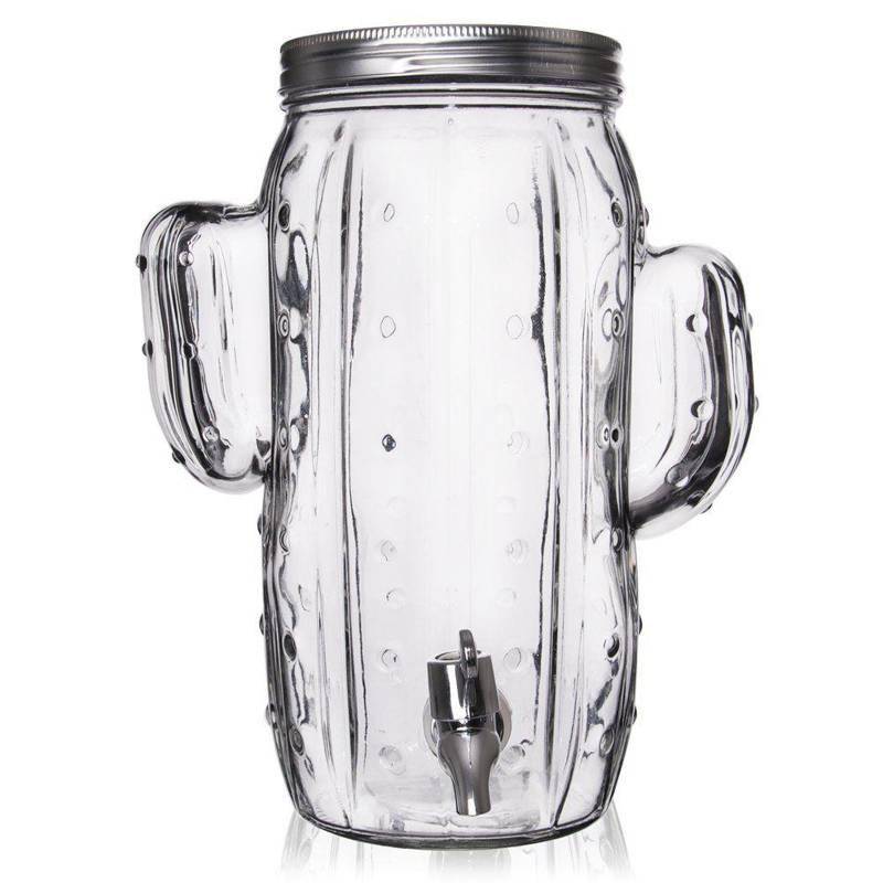ORION Getränkespender Glas Zapfhahnflasche mit Zapfhahn Gläser Trinkgläser 4 L