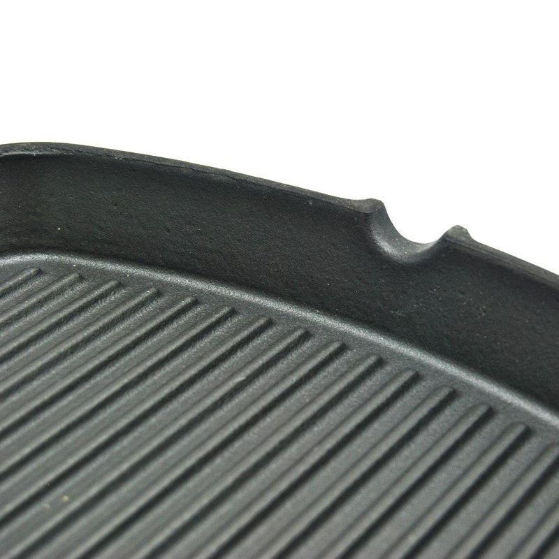 ORION Gusseisenpfanne GRILLPFANNE rund 25x25 cm