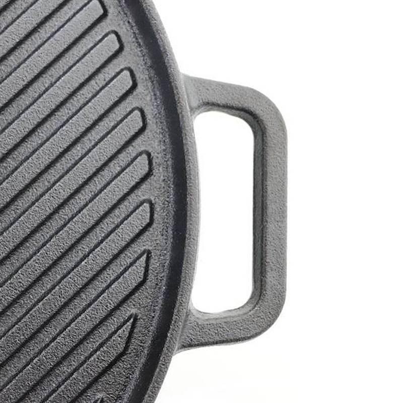 ORION Gusseisenpfanne / Grillpfanne 30 cm induktionsgeeignet