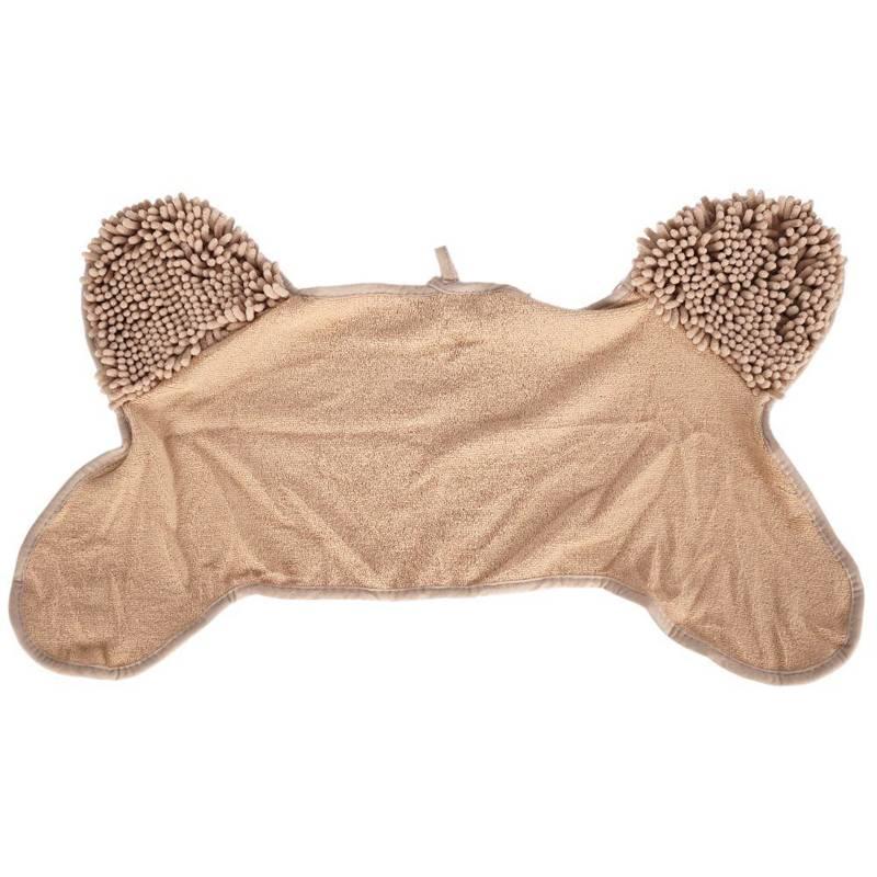 ORION Hundehandtuch aus Mikrofaser saugfähig 76 x 41 cm zum Abtrocknen Abwischen von Hunden