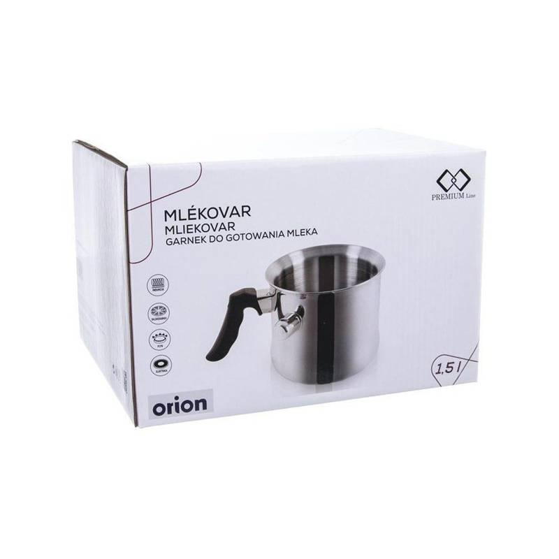ORION Milchtopf Edelstahl Milch Kochen mit einer Pfeife 1,5 L Gas Induktion