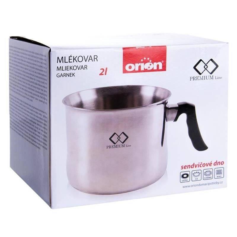 ORION Milchtopf Edelstahl Milch Kochen mit einer Pfeife 2 L Gas Induktion