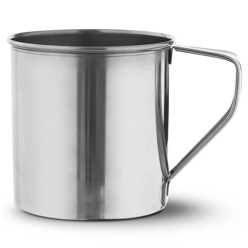 ORION Stahlbecher / Trinkbecher mit Henkel 10 cm 0,6l