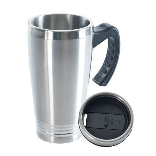 ORION Thermobecher / Isolierbecher aus Stahl mit Griff 0,45l