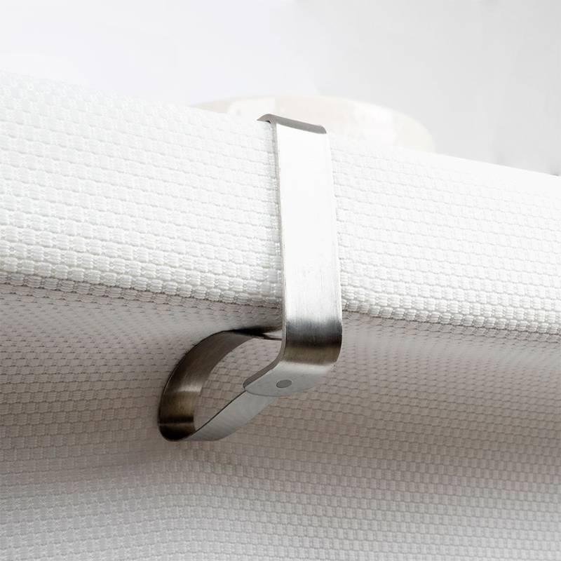 ORION Tischdeckenklammern 4 Stück Clips Halter für Tischdecke Tisch Tischtuch