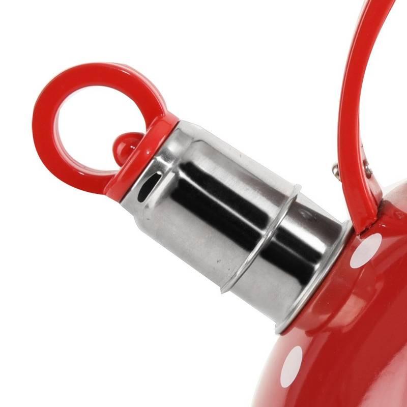 ORION Wasserkessel Wasserkocher Flötenkessel ROTE PUNKTE 2L Gas Induktion