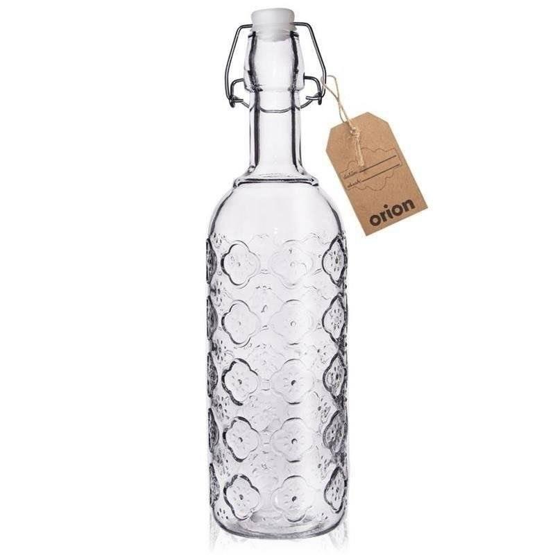 Butelka szklana do nalewek wina RETRO 0,75L CLIP