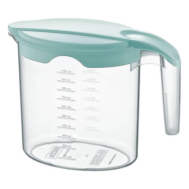 Dzbanek do napojów plastikowy z pokrywką 1L