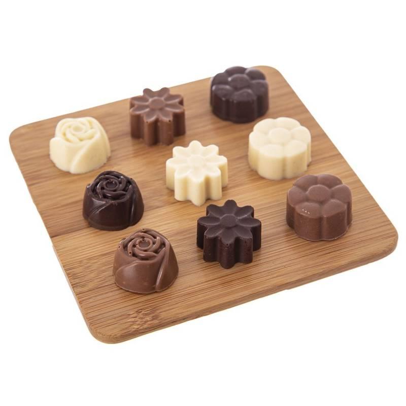Forma do pieczenia ciastek, pralin, czekoladek, ciasteczek, na praliny, silikonowa, 30 sztuk