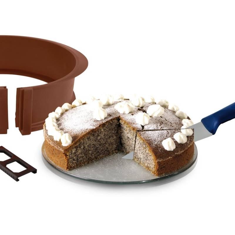 Forma do pieczenia, do ciasta, tortu, na tort, tortownica silikonowa, ze szklanym dnem