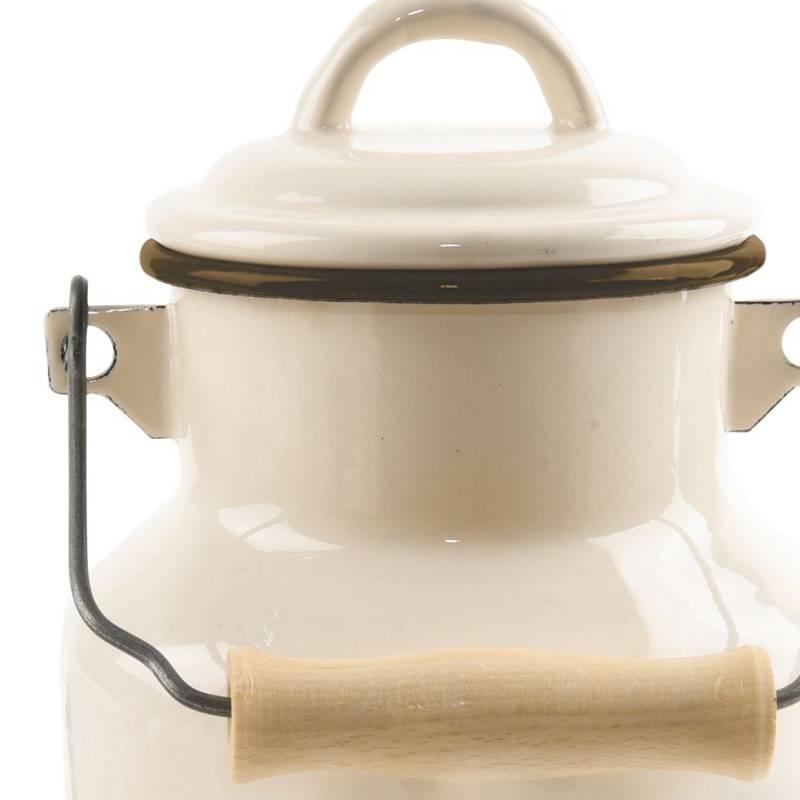 Kanka bańka na mleko do mleka emaliowana retro 2L