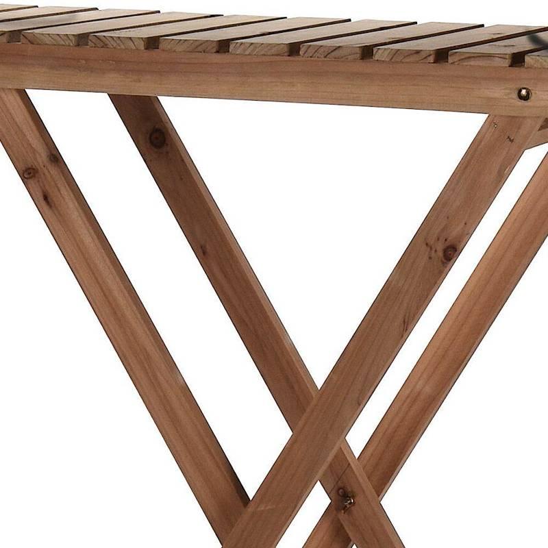 Kwietnik drewniany, stojak, regał, komoda, 2-poziomowy, na kwiaty, zioła, rośliny, doniczki